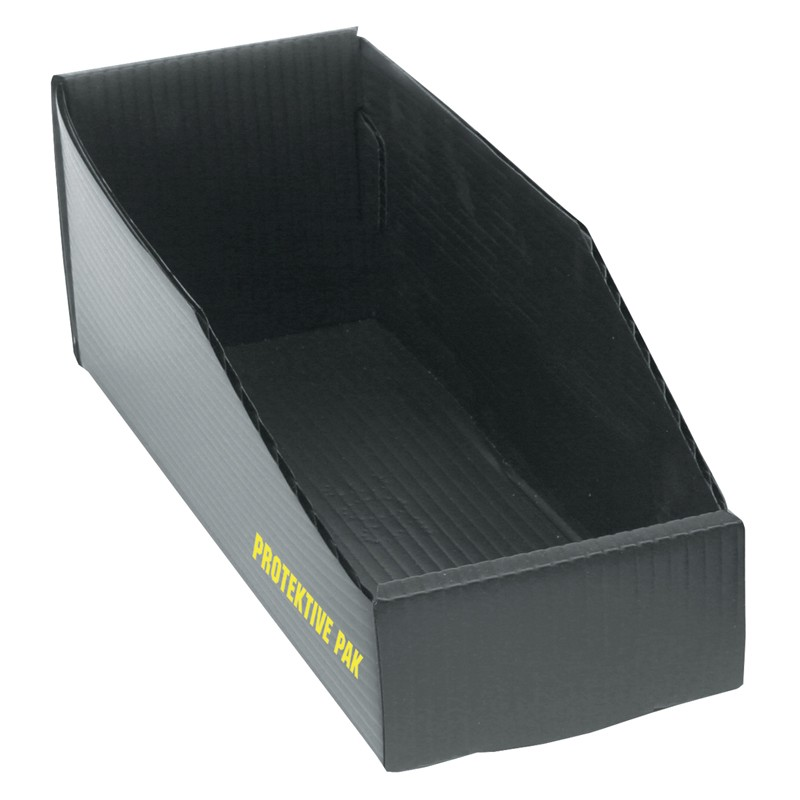 38901-BIN BOX, OPEN, PLASTEK, 12 x 4 x 4 IN