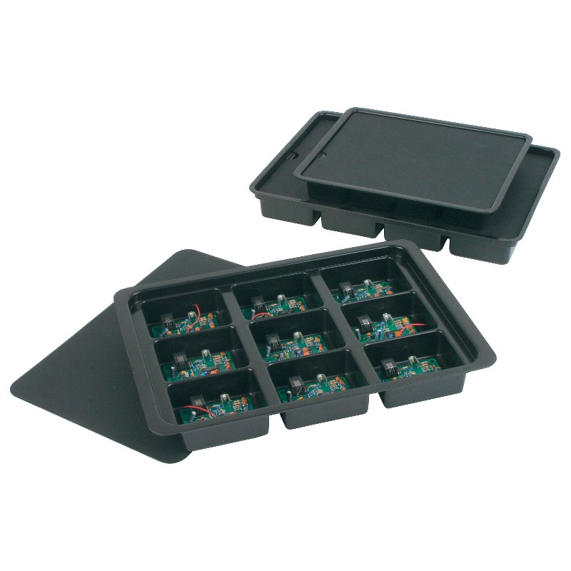 39206-KITTING TRAY, 10-1/2x8-3/4x1- 1/2 12 CELL 2x1-7/8x1IN ,0.060