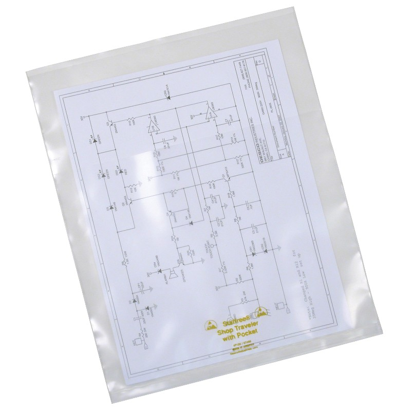 47122-DOCUMENT HOLDER, STATFREE, 6 MIL, 10 X 12, EX POCKET, 25/PK
