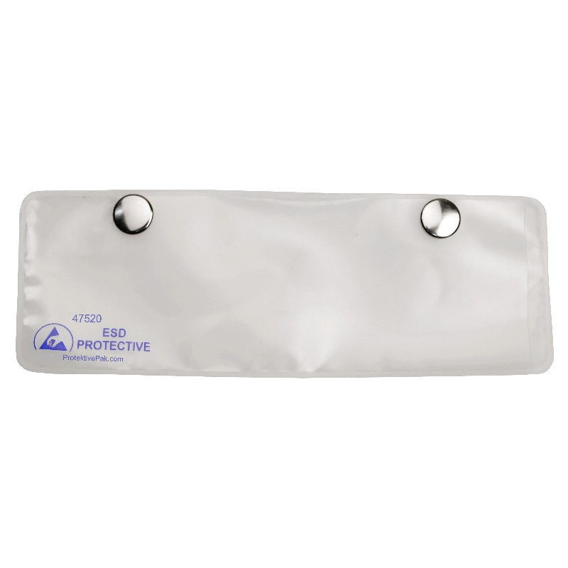 47520-CARD HOLDER, DISSIPATIVE, WITH SNAPS,1-1/2''x6''INSERT,25PK