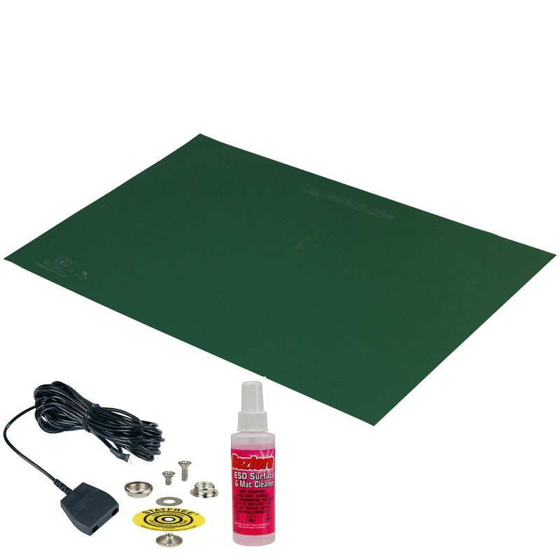 66427-MAT KIT, STATFREE T2 PLUS RUBBER, DISSIPATIVE, GREEN, 0.060'' x 24'' x 36''