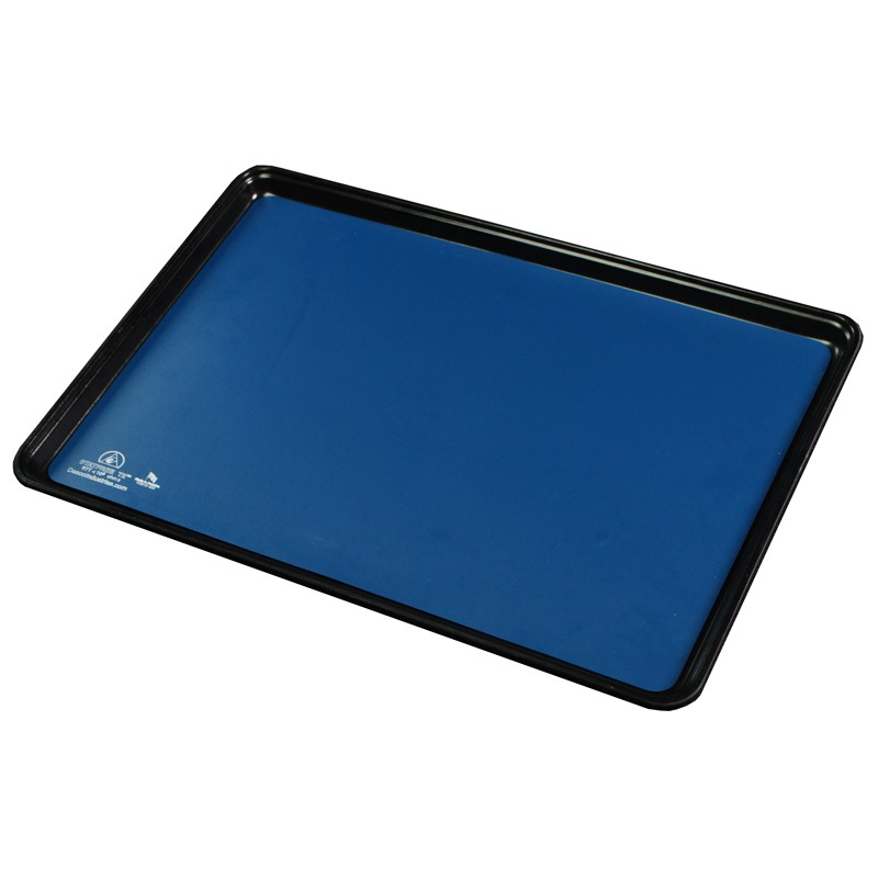 66465-TRAY LINER, STATFREE T2 PLUS RUBBER, DISSIPATIVE, DARK BLUE, 0.060'' x 16'' x 24'' W/RADIUS CORNERS
