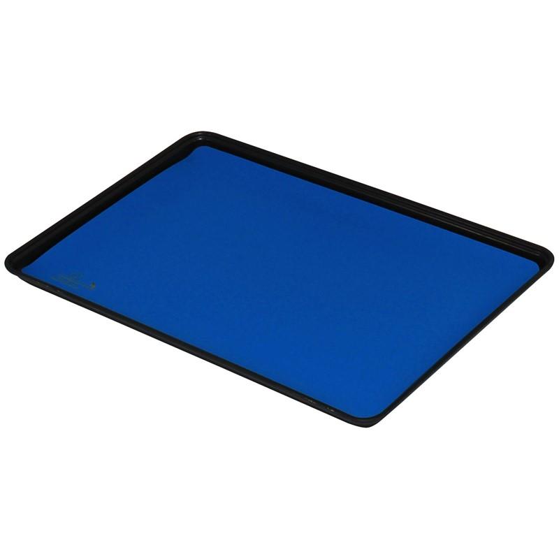 66485-TRAY LINER, STATFREE HJ, RUBBER, DISSIPATIVE, BLUE, 0.078'' x 16'' x 24''