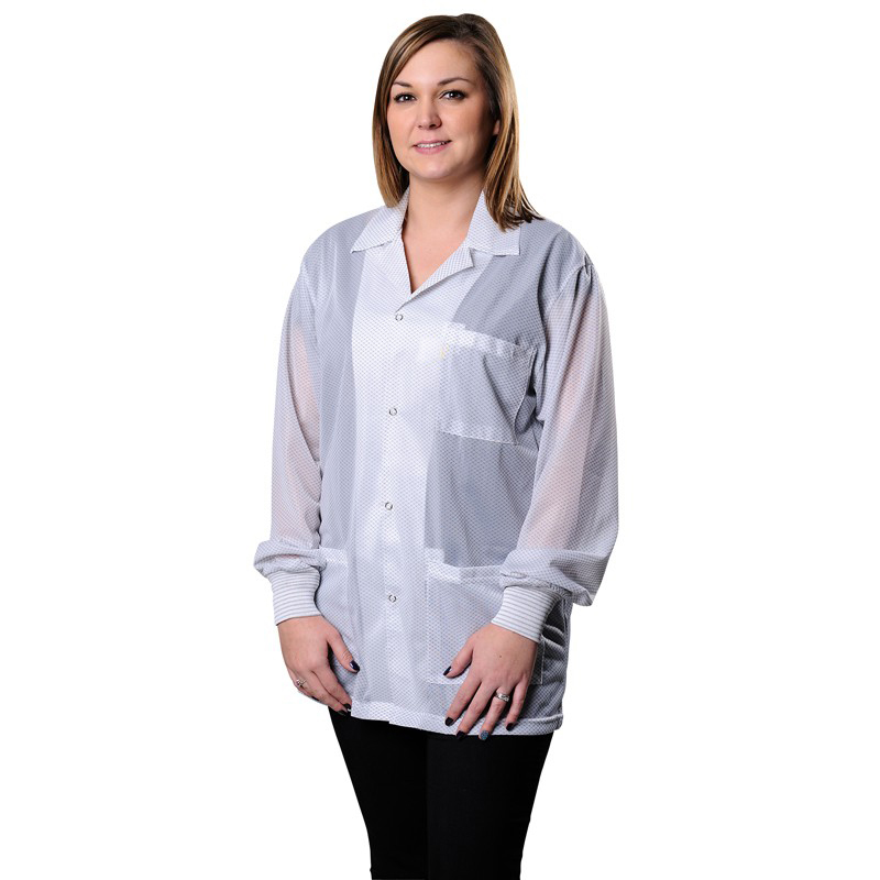 73831-SMOCK, STATSHIELD, JACKET, KNITTED CUFFS, WHITE, SMALL