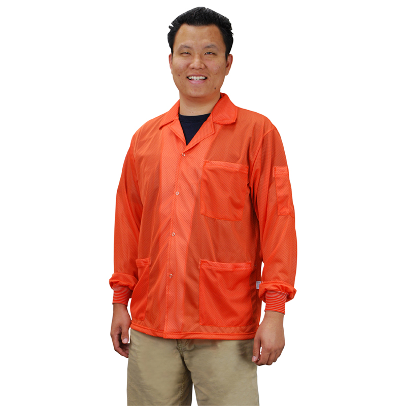 73911-SMOCK, STATSHIELD, JACKET, KNITTED CUFFS, ORANGE, SMALL