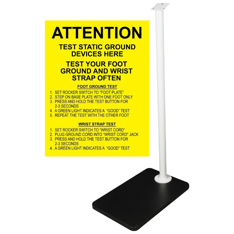 770032-FOOT PLATE AND STAND, FOR COMBO TESTER
