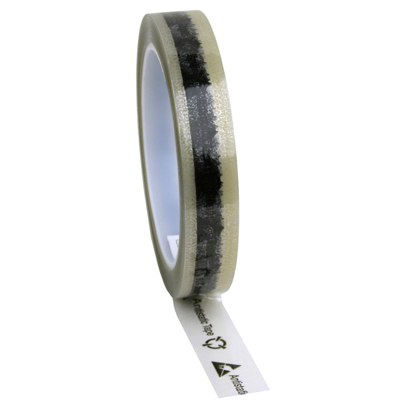 79210-TAPE, WESCORP, CLEAR, ESD W/ SYMBOLS, 3/4INx72YDS, 3IN CORE