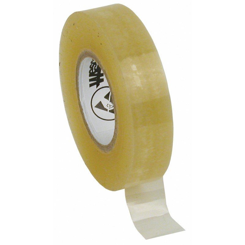 81220-TAPE, WESCORP, CLEAR, ESD, 1/2IN x 36YDS, 1IN PAPER CORE