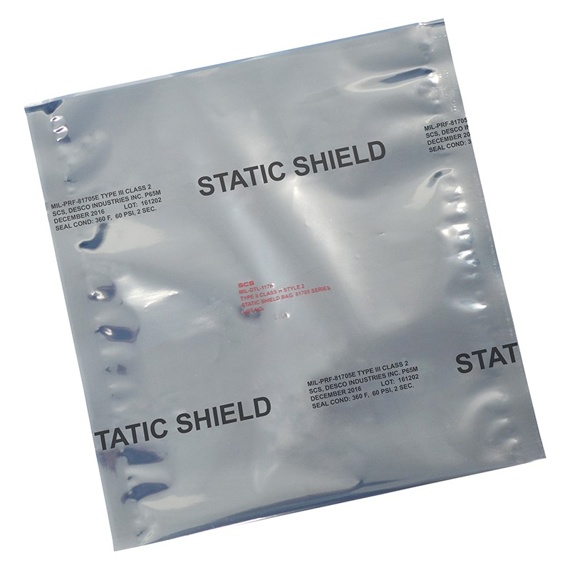817430-STATIC SHIELD BAG,81705 SERIES METAL-IN, 4x30, 100 EA