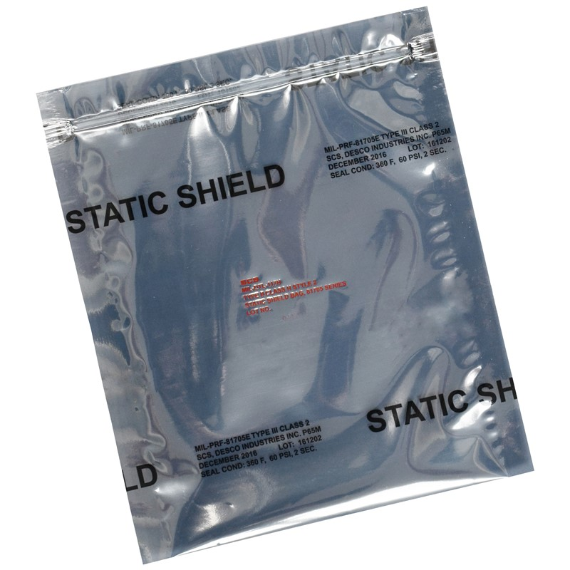 817Z35-STATIC SHIELD BAG,81705 SERIES METAL-IN, ZIP, 3x5, 100 EA