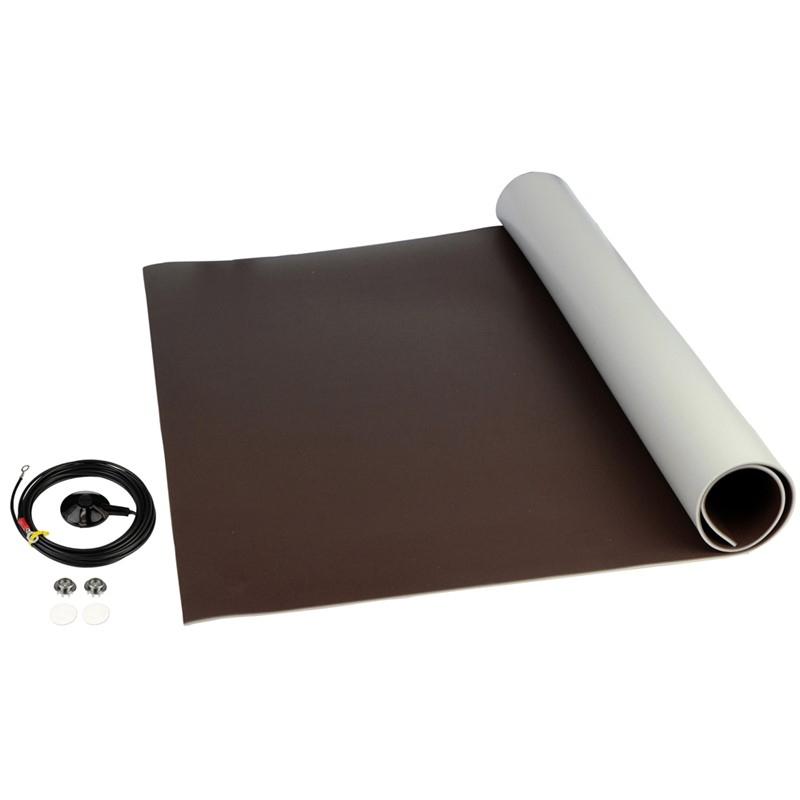 "8261-MAT ROLL, 3-LAYER VINYL, 8200 SERIES, BROWN, 0.140""x24""x24'"