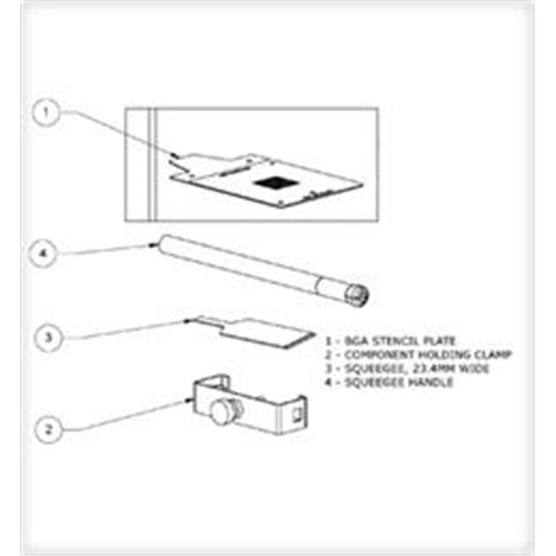 BST-256-100-BGA STENCILING TEMPLATE, PBGA 256-1.0 (DEMO)