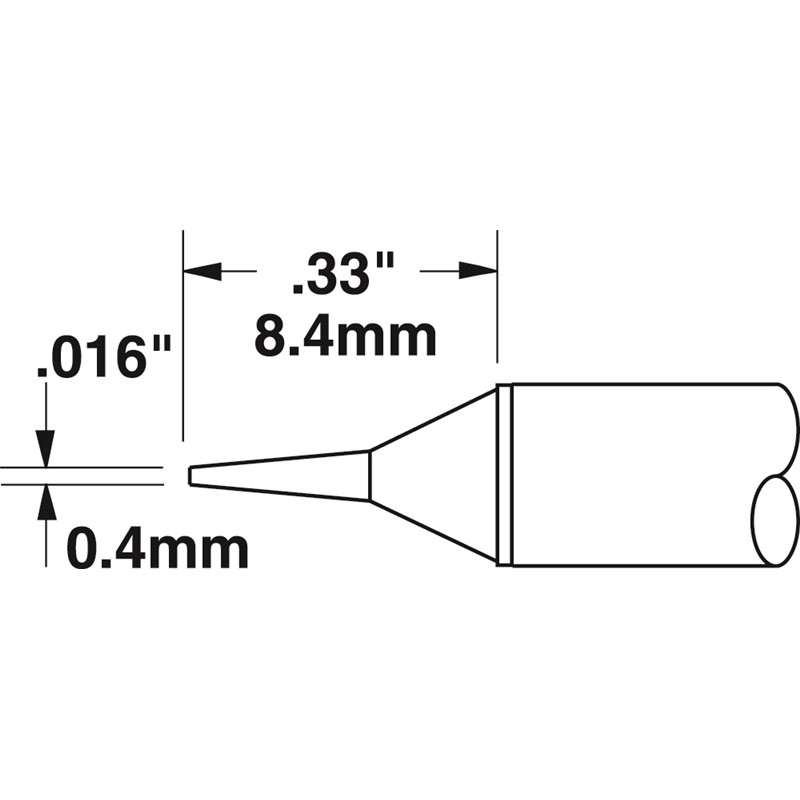 CVC-7CN1404S-コテ先 STTC-122型 0.4mm x 8.4mm 413℃
