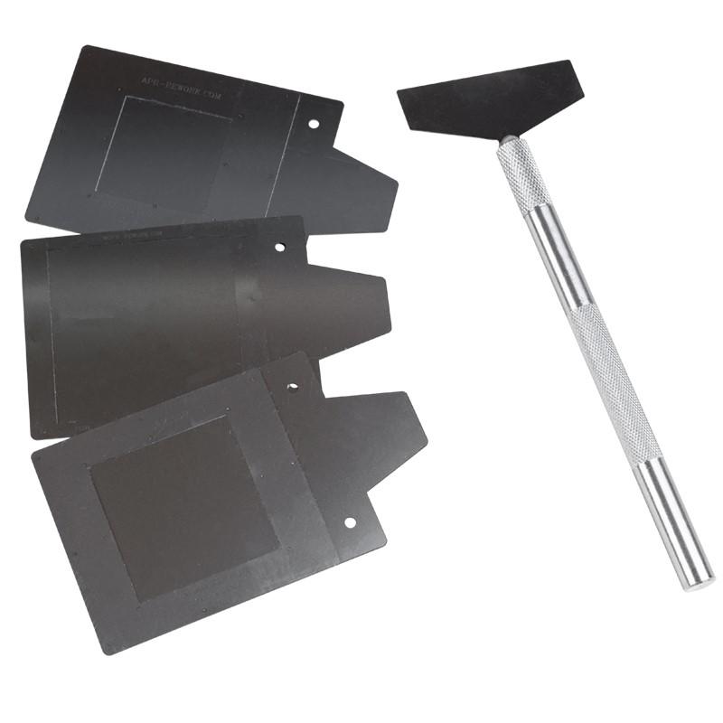 DTP-BGA-FLUX DIP TRANSFER PLATES, BGA, .30MM DEPTH, 28MM 35MM & 45MM NESTS, 3 PLATES