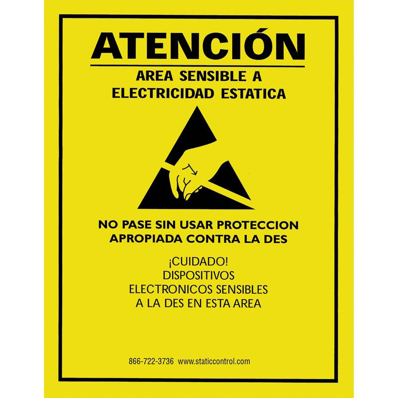 SIGN17X22S-SIGN, ATTENTION, 17IN x 22IN, RS-471, SPANISH