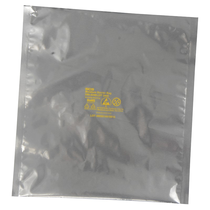 D34Z68-MOISTURE BARRIER BAG, DRI-SHIELD 3400 ZIP, 6x8, 100 EA