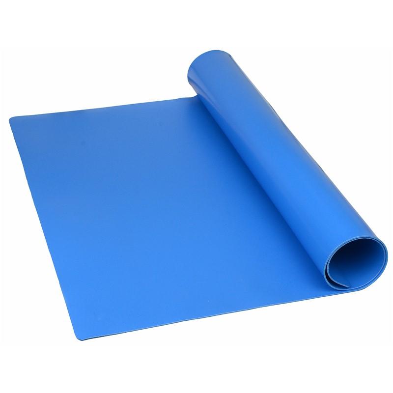 "TM36600L1BL-MAT ROLL, QUALITY 1-LAYER VINYL, BLUE, 0.096""x36""x50'"