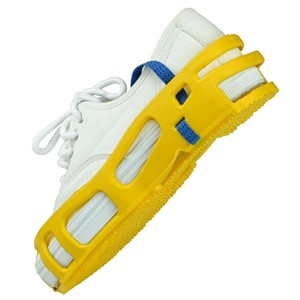SAR-M-STAT-A-REST FOOT GROUNDER, YELLOW, PAIR, MEDIUM