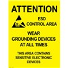 POSTER, AREA WARNING, 17'' x 22'', PACK OF 5