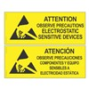 SIGN, ATTENTION, RS-471, ENGLISH-SPANISH, 102MMx254MM