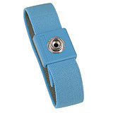 WRISTBAND, ELASTIC ADJUSTABLE, 10MM, LIGHT BLUE