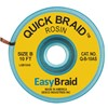 DESOLDERING BRAID, QUICK BRAID, 0.050'' x 10' (1.27 MM x 3.05 M), ANTISTATIC, 25/PK