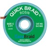 DESOLDERING BRAID, QUICK BRAID, 0.075'' x 5' (1.905 MM x 1.524 M), ANTISTATIC, 25/PK