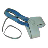 HEEL GROUNDER, DUAL CUP, NON MARRING, BLUE HOOK/LOOP