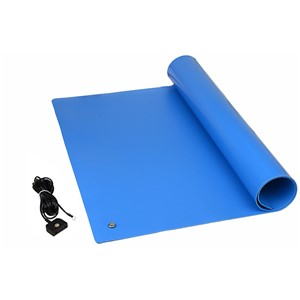 "TM2448L1BL-L-MAT KIT, QUALITY 1-LAYER VINYL BLUE, 0.096"" x 24"" x 48"""