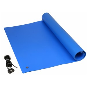 "TM2448L3BL-L-MAT KIT, PREMIUM 3-LAYER VINYL BLUE, 0.135"" x 24"" x 48"""